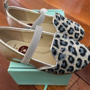 Twinkle silver & leopard print fancy shoes BNWT